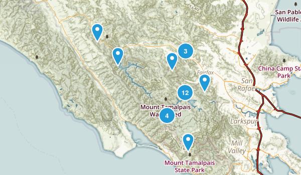 Fairfax, California Trail Running Map