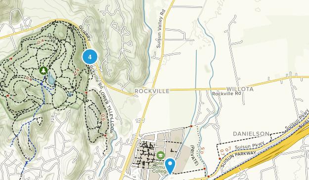 Fairfield, California Dogs On Leash Map