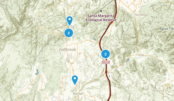 Fallbrook, California Nature Trips Map
