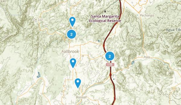 Fallbrook, California Walking Map
