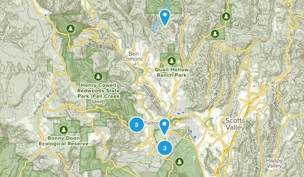 Felton, California Trail Running Map