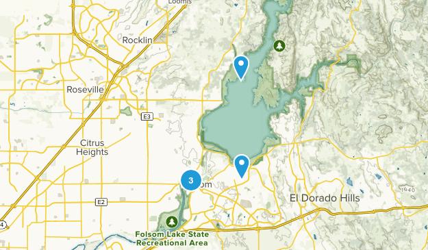 Folsom, California Nature Trips Map