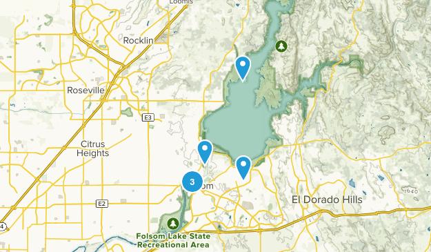 Folsom, California Walking Map