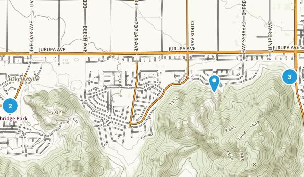 Fontana, California Hiking Map
