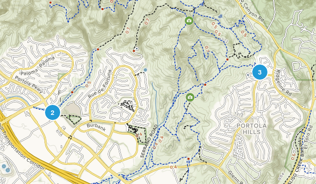 Foothill Ranch, California Hiking Map