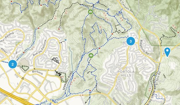 Foothill Ranch, California Mountain Biking Map