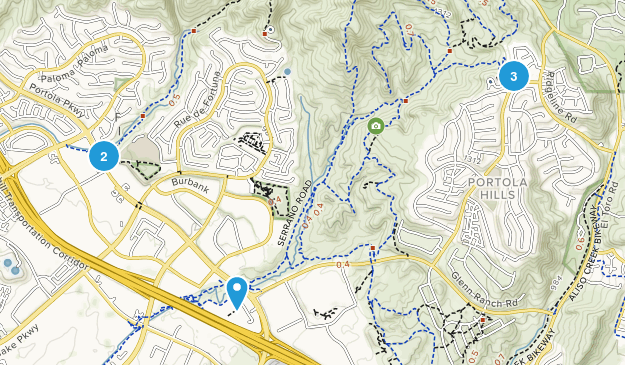 Foothill Ranch, California Walking Map