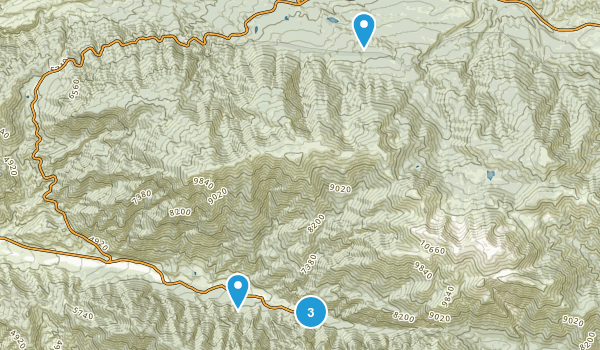 Forest Falls, California Backpacking Map