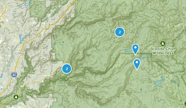 Foresthill, Kalifornien Camping Map