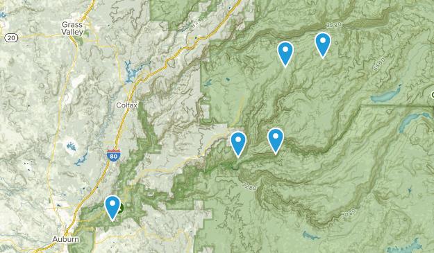 Foresthill, California Mountain Biking Map