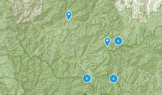 Forks of Salmon, Kalifornien Camping Map