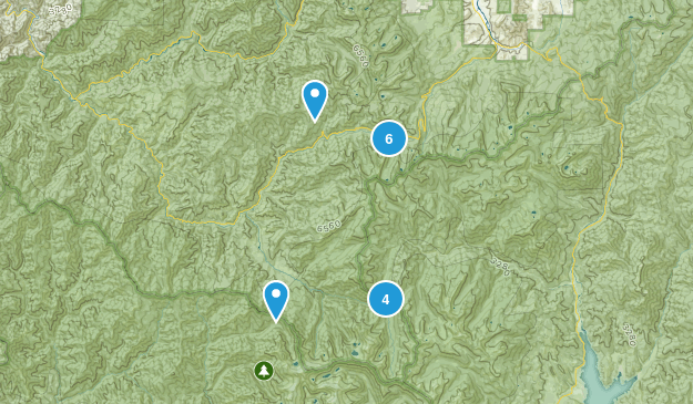 Forks of Salmon, California Dog Friendly Map