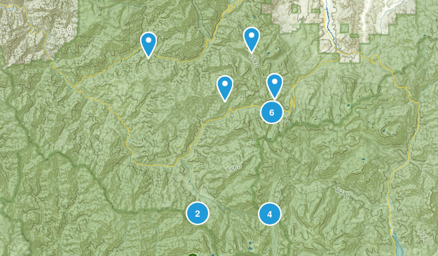 Forks of Salmon, California Hiking Map