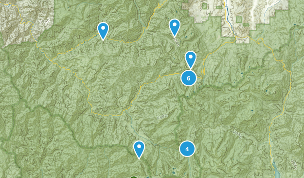 Forks of Salmon, California Lake Map