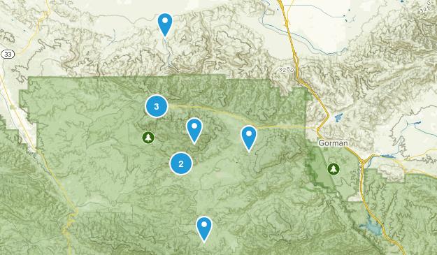 Frazier Park, California Birding Map
