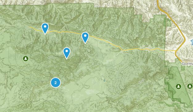 Frazier Park, California Camping Map
