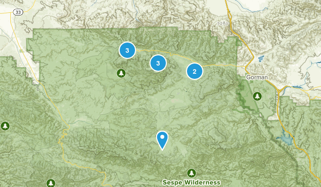 Frazier Park, California Hiking Map