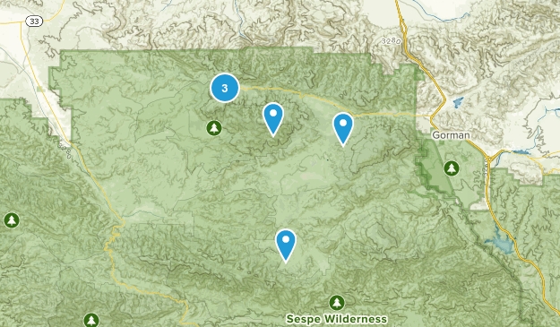 Frazier Park, California Nature Trips Map
