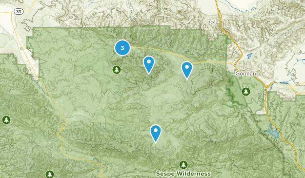 Frazier Park, California Walking Map