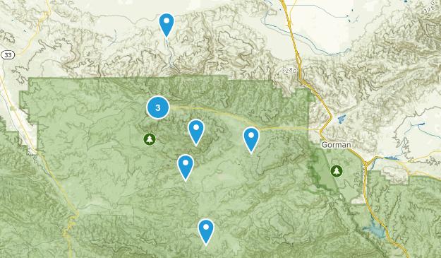 Frazier Park, California Wild Flowers Map