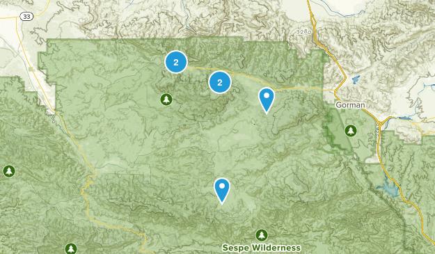 Frazier Park, California Wildlife Map
