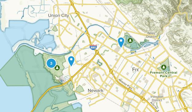 Fremont, California Beach Map