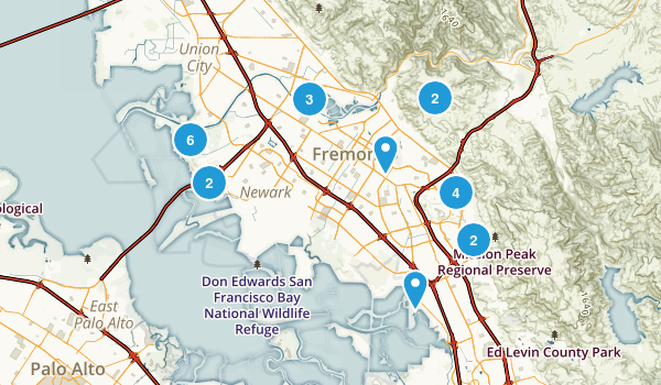 Fremont, California Birding Map