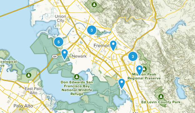 Fremont, California Dogs On Leash Map
