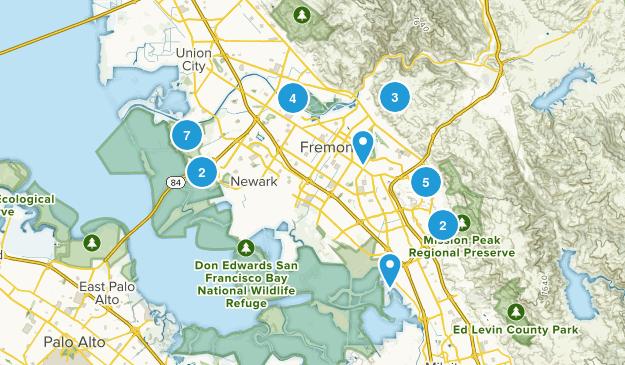 Fremont, California Hiking Map