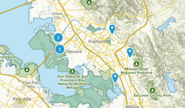 Fremont, California Mountain Biking Map