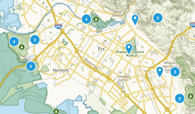 Fremont, California Nature Trips Map