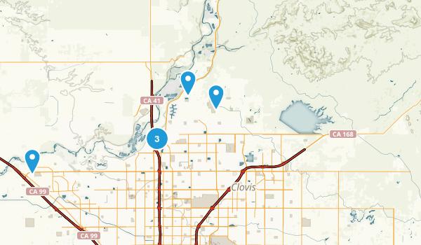Fresno, California Walking Map