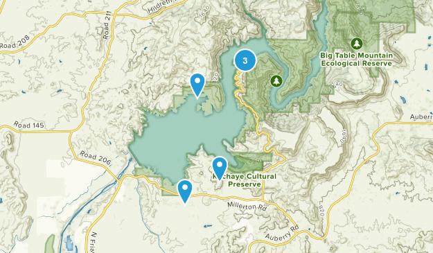 Friant, California Lake Map