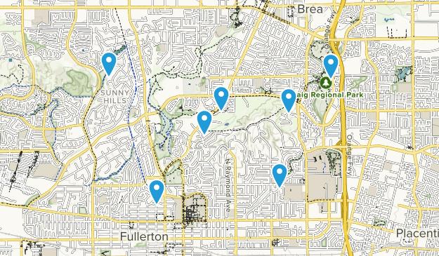 Fullerton, California Kid Friendly Map