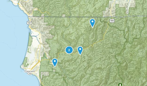 Gasquet, California Hiking Map