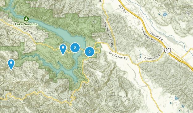 Geyserville, California Hiking Map