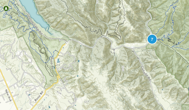 Gilroy, California Backpacking Map