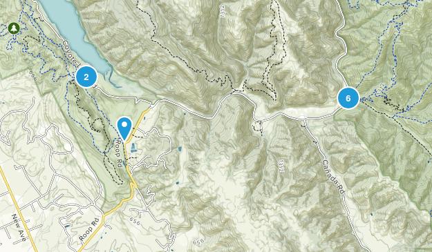 Gilroy, California Lake Map