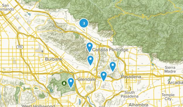 Glendale, Kalifornien Bird Watching Map