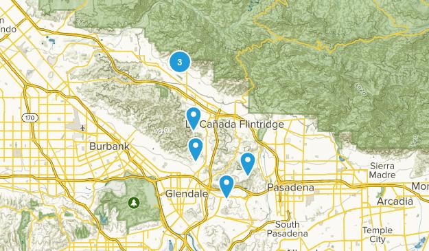 Glendale, California Nature Trips Map