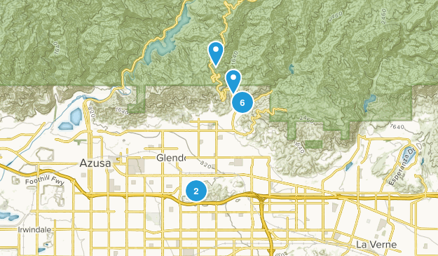 Glendora, California Birding Map