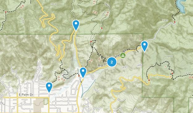 Glendora, California Forest Map