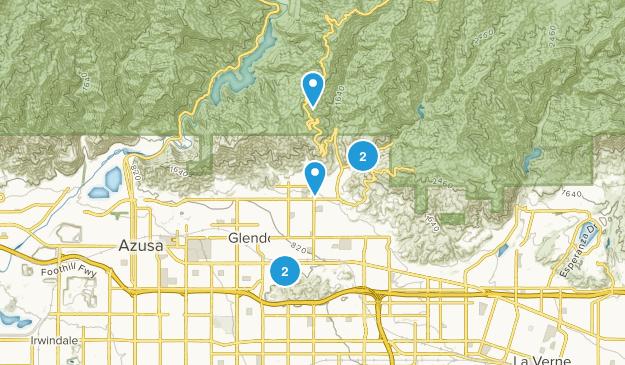 Glendora, California Kid Friendly Map
