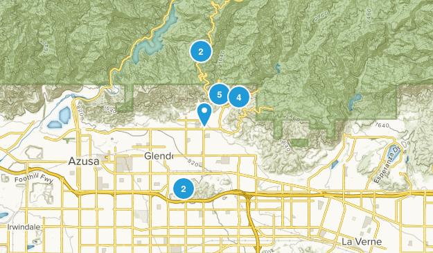 Glendora, California Views Map