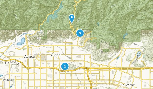 Glendora, California Walking Map