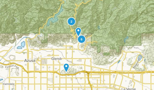 Glendora, California Wild Flowers Map