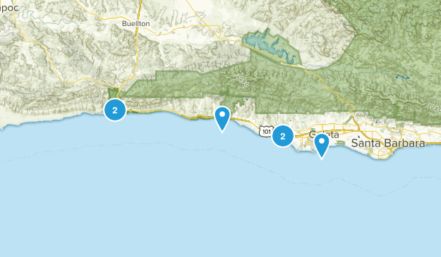 Goleta, California Beach Map