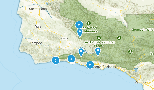 Goleta, California Birding Map