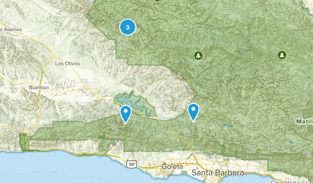Goleta, California Dog Friendly Map