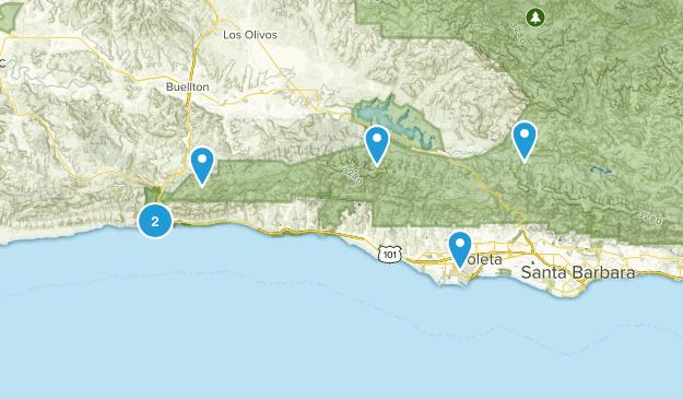 Goleta, California Forest Map